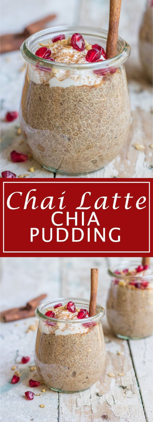 This chai latte chia pudding will be your new favourite chia treat this winter season! It's loaded with warming chai spices, healthy, and delicious!