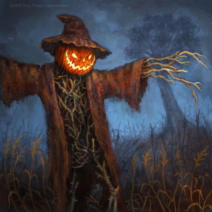 woodsmokeandpumpkins scary scarecrow by karichristensen - Halloween Scare Crow
