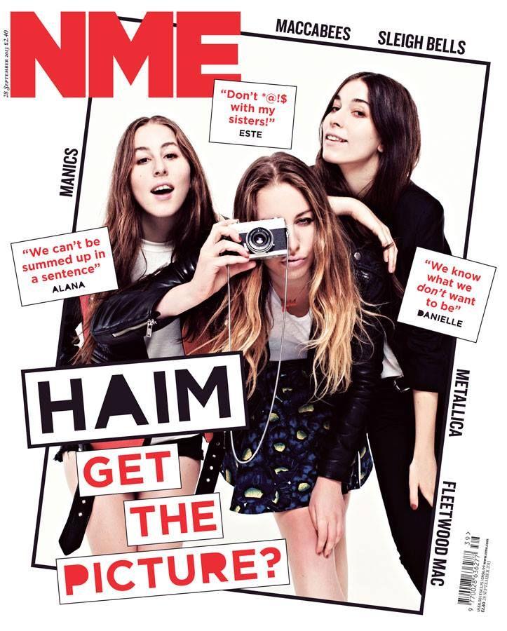 HAIM cover NME Magazine