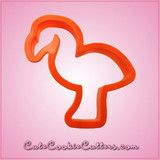 Orange Flamingo Cookie Cutter | Cheap Cookie Cutters is the Cookie Cutter Leader - 4 inches - plastic