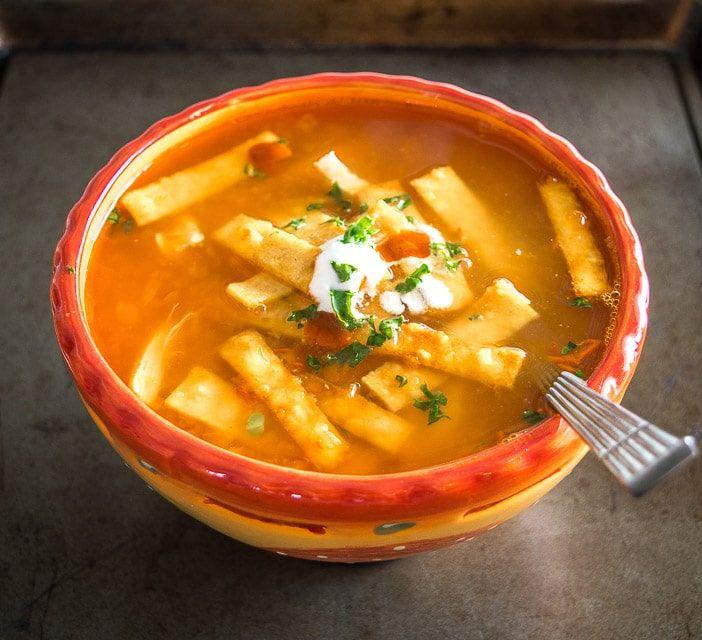 Best 25+ Chicken tortilla soup ideas on Pinterest | Tortilla soup recipes, Slow cooker tortilla ...