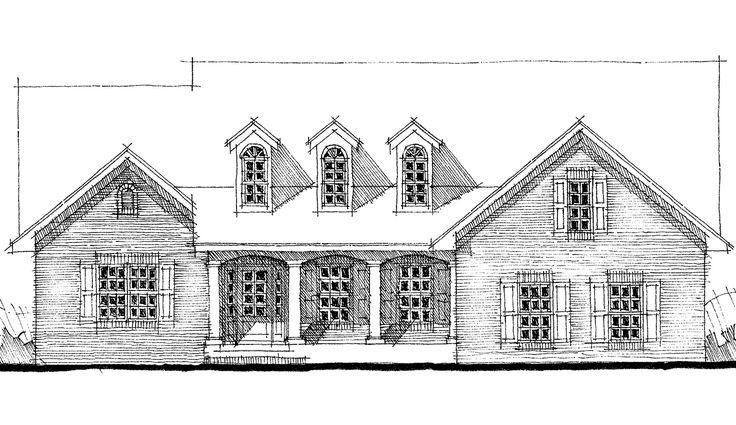 Traditional Brick Home Plan - 44062TD | 1st Floor Master Suite, Bonus Room, CAD Available, Metric, PDF, Split Bedrooms, Traditional | Architectural Designs