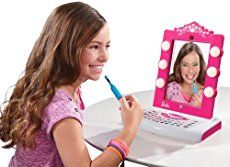 My tween daughter absolutely loves the Barbie Digital Makeover Mirror! She can put on make-up without actually having to put it on! It's a unique toy that works with the iPad.