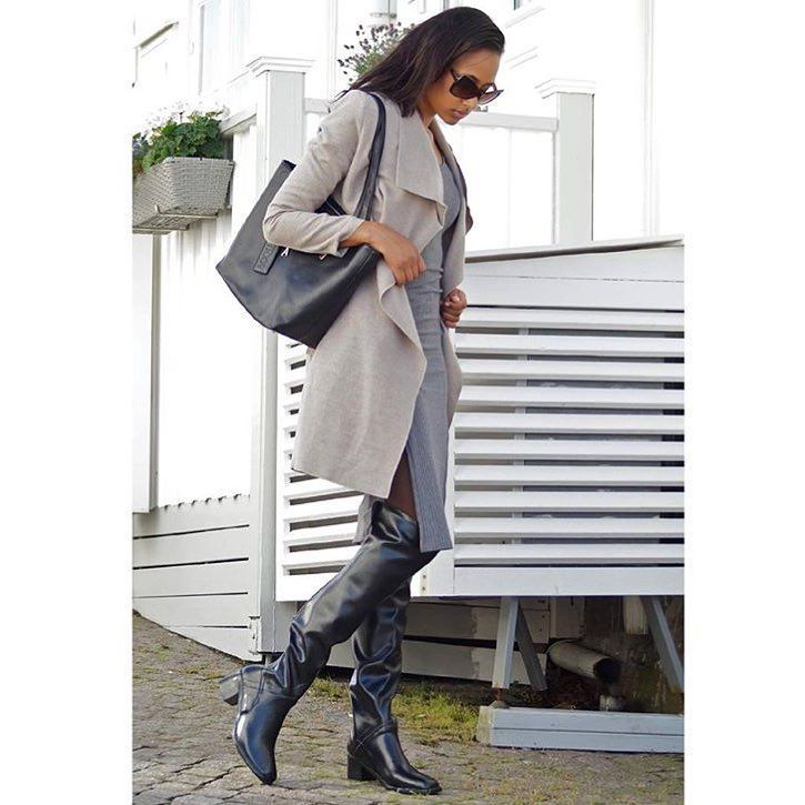 Pin By Jerry Lutgring On Acquo Rubber Boots Grey Knit Dress