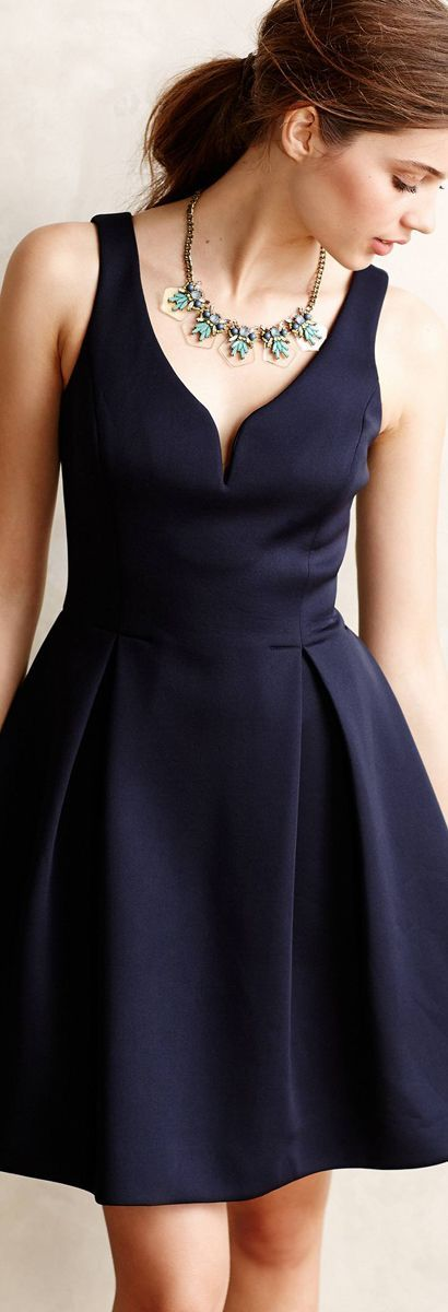 Anthropologie, this line goes for everybody. I see this dress line muhc more frequently than before. Love the color