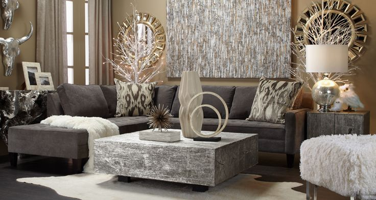 Stylish home decor chic furniture at affordable prices for Z gallerie living room ideas