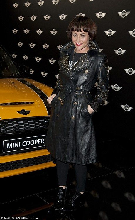 Jamie Winston - Mini Cooper leather launch party! | Find your perfect leather trench at http://www.il2l.com/womens/jackets/mac-style-jackets.html and get customising