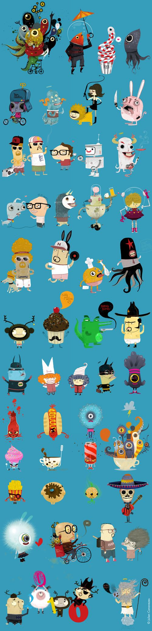 Character Design Behance : Illustrations by julien canavezes via behance