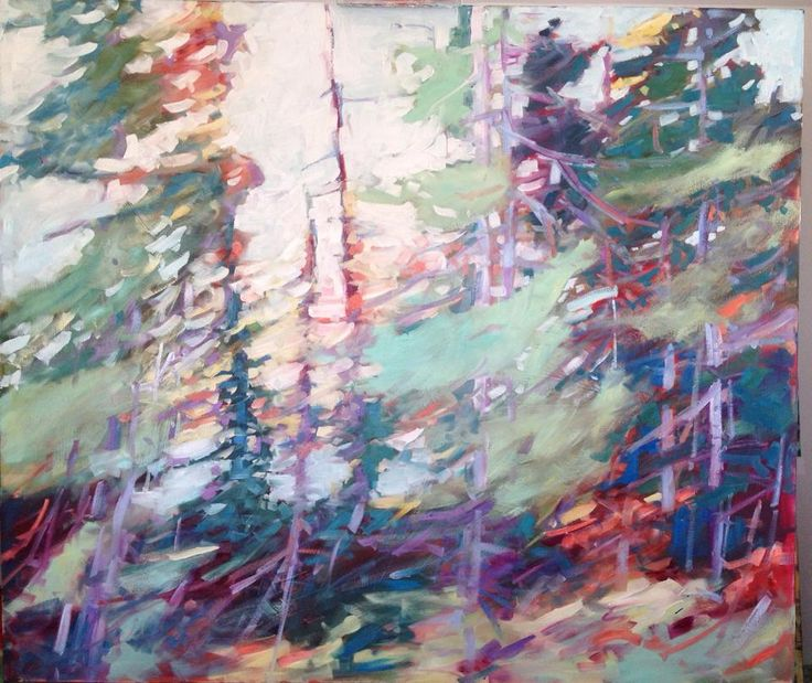 "Shake it Out, OIl on Panel, 36"" x 42"" *Sold* sheila davis - wall space gallery"