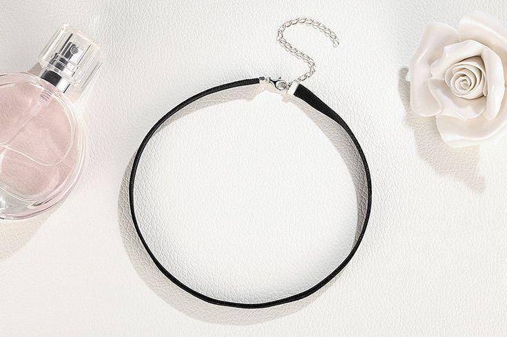 100% 925 Argento sterling & velluto nero collana del nastro caldo Girocollo per le donne regalo perfetto per amanti 31 cm + 7 cm SCA012 di OceanBijoux su Etsy