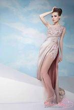 nueva moda marie 2014 lise vestidodenoche largo pura paneles laterales un hombro vestido de fiesta de noche elegantes vestidos de baile(China (Mainland))