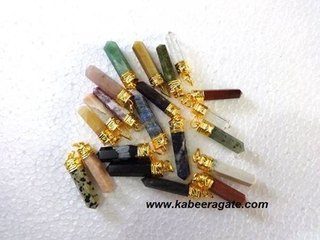 Assorted #Gemstone #Pencil_Pendents (Golden) http://www.kabeeragate.com/index.php/productsdetail/assorted-gemstone-pencil-pendents--golden-