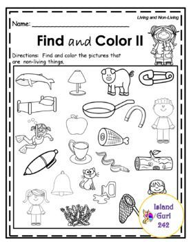 Living and Non-Living Things No Prep (Worksheets) #clothes
