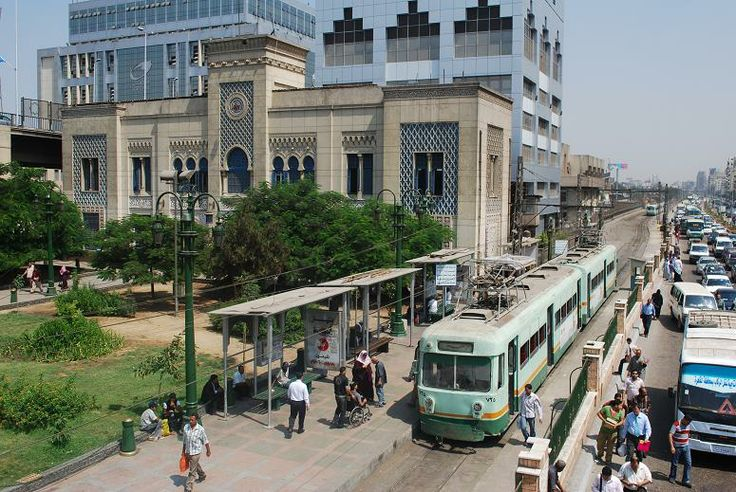 Tram at the Ramses Station in Cairo, Egypt: Photo: Raphael Krammer