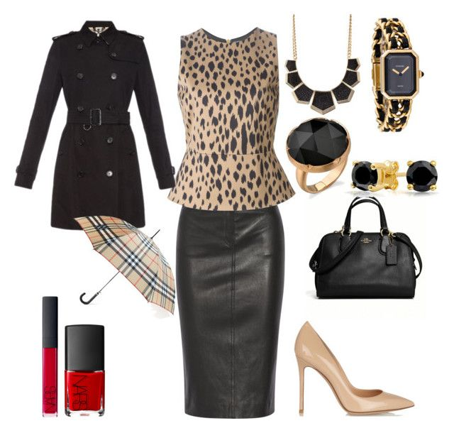 """Leopard"" by wardrobedreamer on Polyvore featuring Joseph, FAUSTO PUGLISI, Gianvito Rossi, Coach, Charlotte Russe, Chanel, NARS Cosmetics, Burberry and Bling Jewelry"
