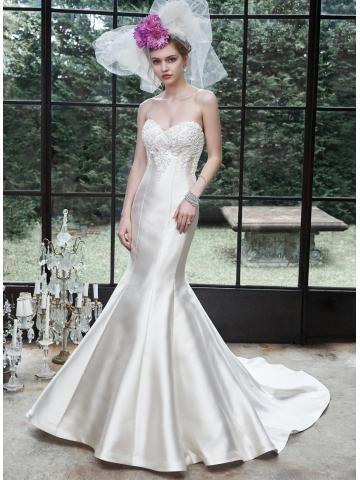 Okouzlijící & dramatický Výšivka Empírové Svatební šaty 2015