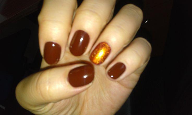 brown,copper,cupio,permanent,nails