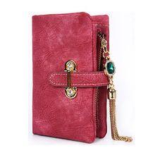 2016 fashion short matte ladies wallet vintage tassel zipper and hasp womens wallets and purses Money Bag free shipping 026-2(China (Mainland))