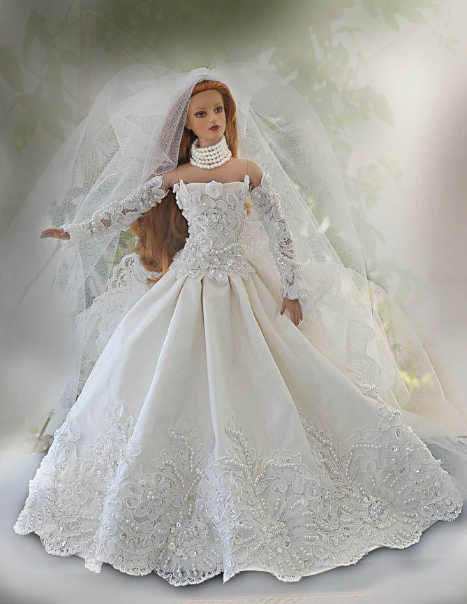 2018 best wedding dresses for dolls images on pinterest for How to make a barbie wedding dress