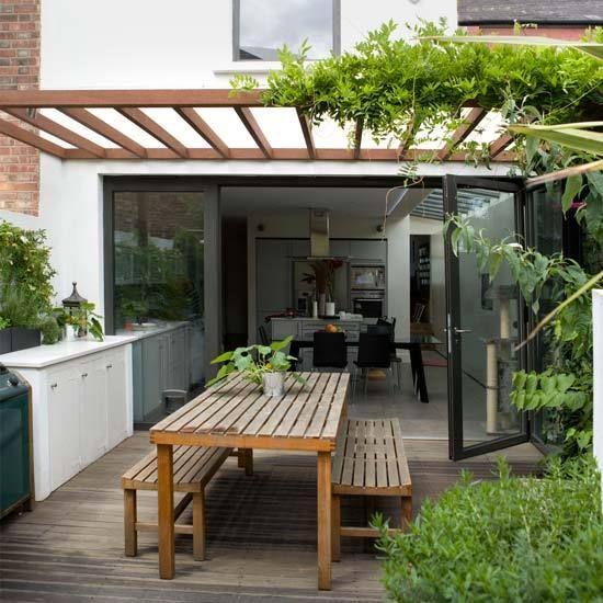 Vines, trellis, patio furniture