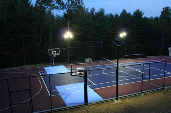 120 best images about backyard basketball court on pinterest for Sport court basketball hoop
