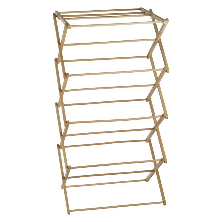 An extremely useful and practical Misto natural wooden clothes airer is a traditional design made from solid beech wood. It can be set at two different heights and folds flat when not in use.