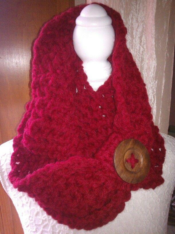 Altra sciarpa rossa in lana mista apalca