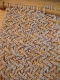 KNIT- very easy version of the herringbone stitch...