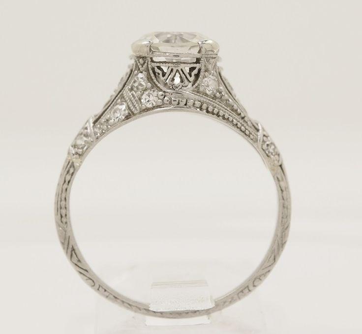 Gesner 1.43 ct. Diamond & Platinum Edwardian Engagement Ring - Engagement Rings - Antique/Vintage Jewelry