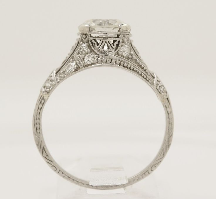 Gesner 1.43 ct. Diamond & Platinum Edwardian Engagement Ring - Engagement Rings - Antique/Vintage Jewelry