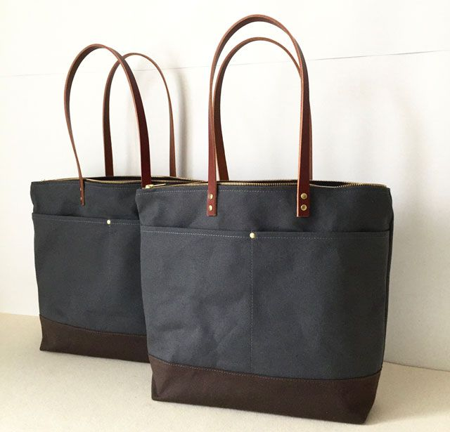 Modern Coup Medium Zipper Totes with custom front pockets