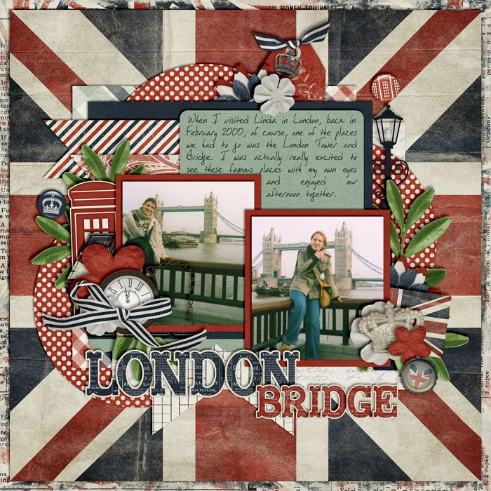 London, Baby by Libby Pritchett Template from Set 152 by Cindy Schneider Font: DJB Scratched Notes by Darcy Baldwin