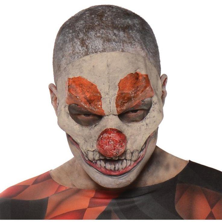 Evil Clown 3-4 Mask