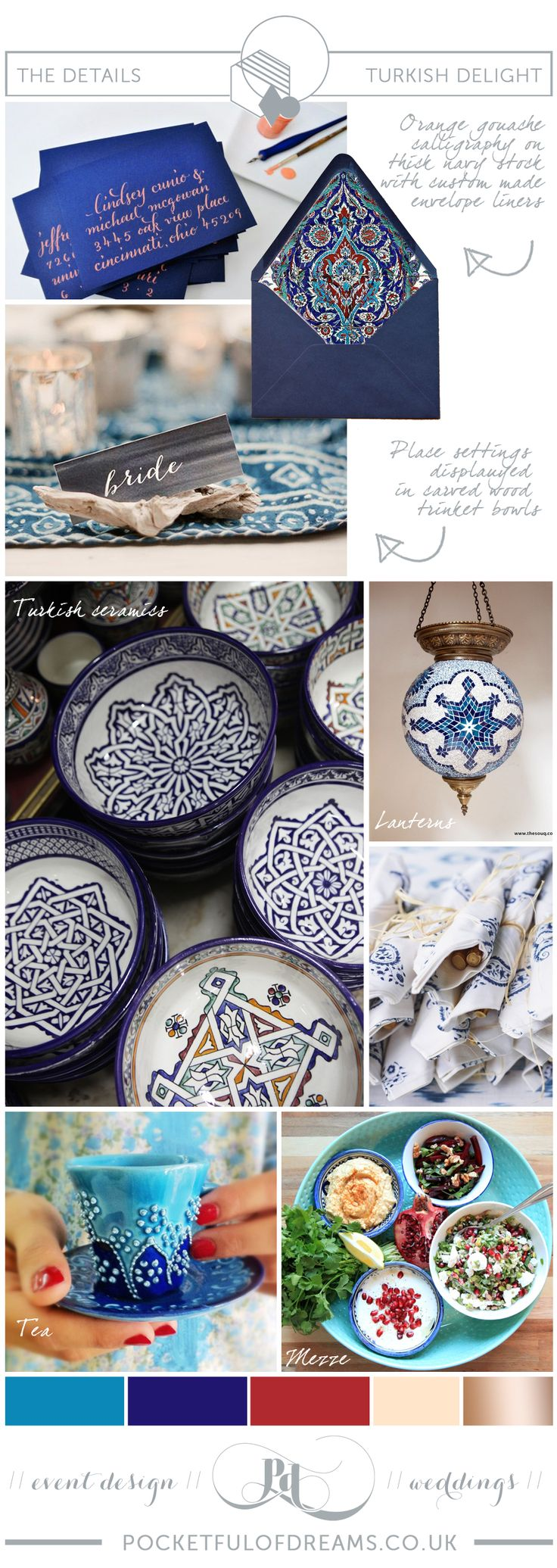 Turkish/Turkey inspired wedding. Inspiration boards produced by Pocketful of Dreams for lovemydress.net