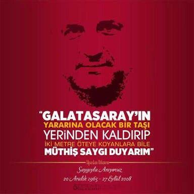 Yüreği güzel insan.. #Unutmadık #AlpaslanDikmen #ultrAslan #Galatasaray