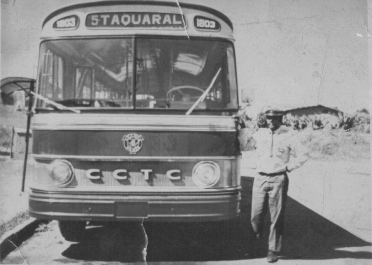 Ônibus Scania da CCTC Companhia Campineira de Transportes Coletivos, em 1972, época em que a empresa detinha o monopólio das operações municipais