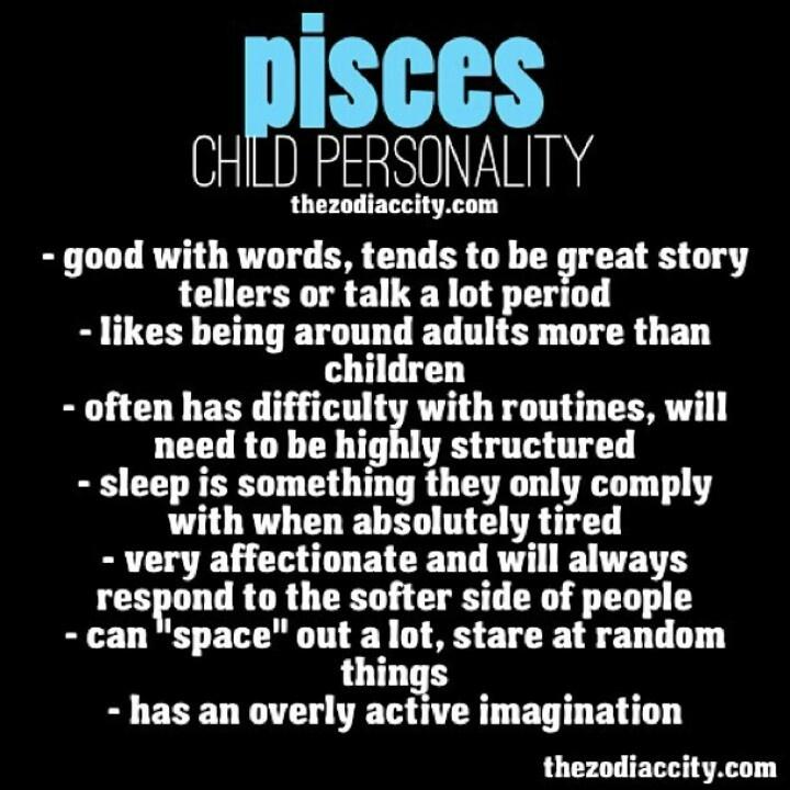 Pisces child personality PISCES Pinterest