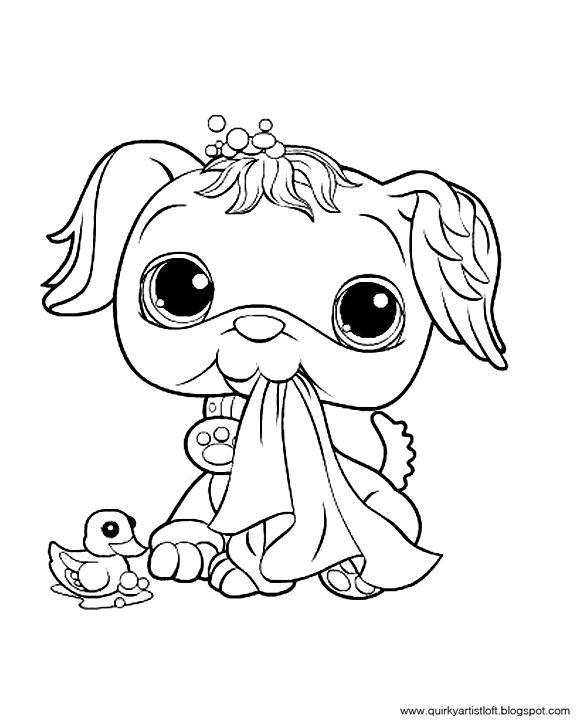 Quirky Artist Loft Littlest Pet Shop - Free Printable Coloring Book