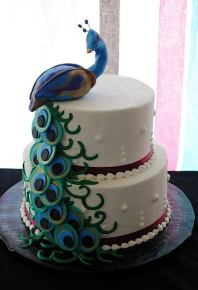 35 best Peacock Cakes images on Pinterest Peacock cake Peacock