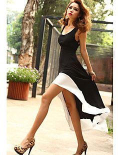 Women's Strap Sexy Sleeveless Fishtail Midi Dress – USD $ 15.59