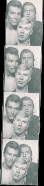 Self-portrait with Philip Fagan & Gerard Malanga, 1963-1964