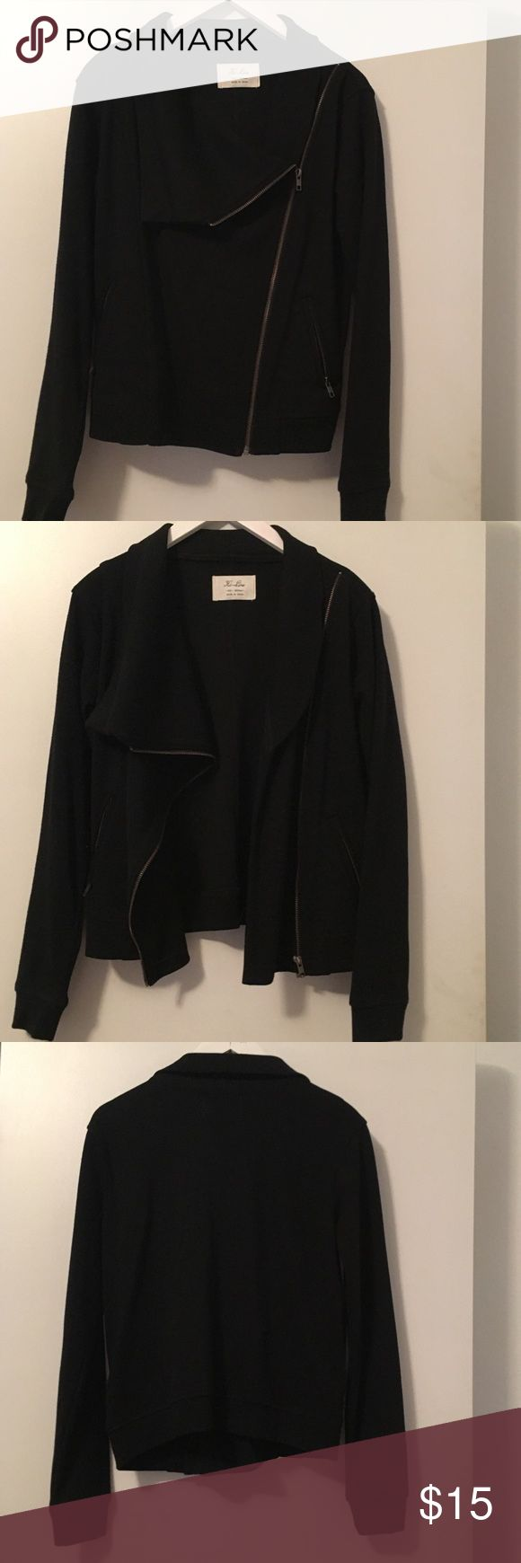 Hi-Line Moto Wool blend Knit Jacket Sz M Purchased at Madewell in Atlanta, it's a great Moto inspired jacket with zip details. Madewell Jackets & Coats