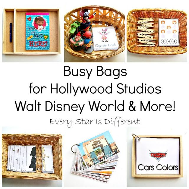 busy bags for hollywood studios walt disney world more - Disney Cars Activities