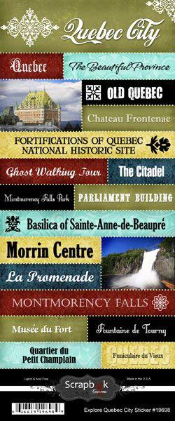 Scrapbook+Customs+-+World+Collection+-+Canada+-+Cardstock+Stickers+-+Explore+-+Quebec+City+at+Scrapbook.com