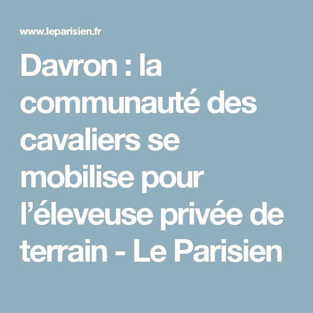 Davron : la communauté des cavaliers se mobilise pour l'éleveuse privée de terrain - Le Parisien