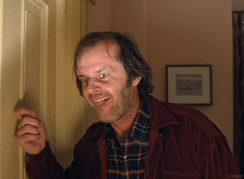 Des scènes de films cultes en gif 05 The Shining