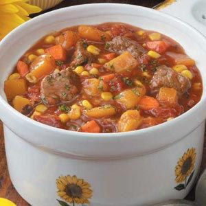 Vegetable Beef Stew Recipe   Taste of Home Recipes   crock pot
