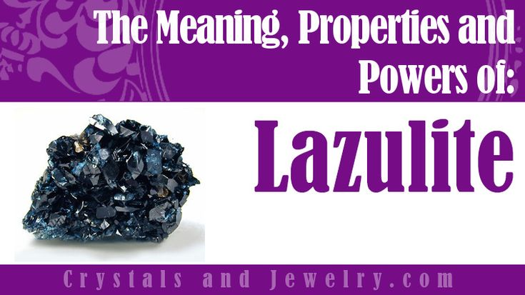 Lazulite Properties Lazulite is a hydrous magnesium aluminium phosphate which forms as a wedge-shaped bi-pyramidal or tabular crystal. It's a member of the Lazulite Scorzalite series. It's usually embedded as granular compact masses and in matrix. Its color