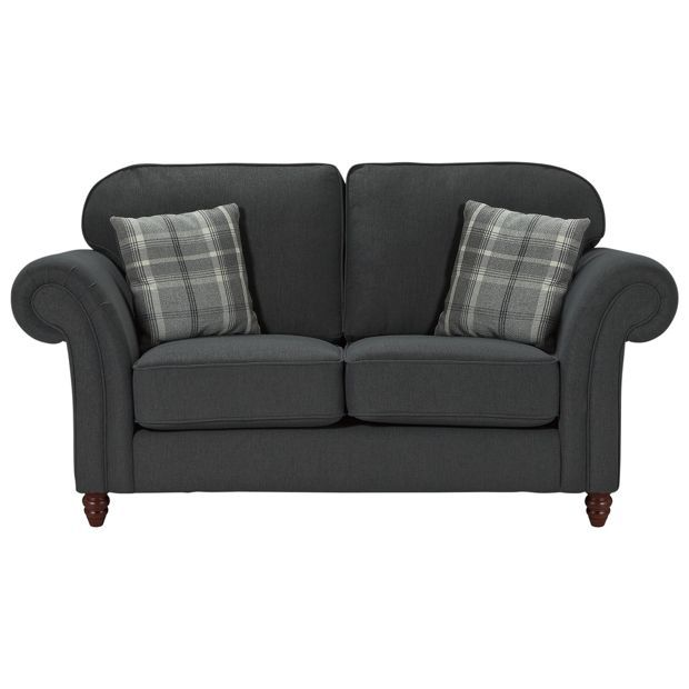 Buy Heart of House Windsor High Back Reg Fabric Sofa - Charcoal at Argos.co.uk, visit Argos.co.uk to shop online for Sofas, Sofas, armchairs and chairs, Home and garden