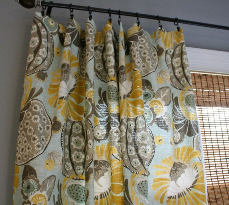 Grey And Yellow Window Curtains Modification Is Very Pretty : Lovely  Patterns And Colour Combinations Ideas